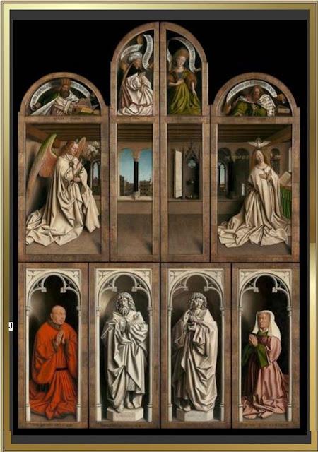 Sint-Baafskathedraal,l'Agneau mystique, frères Van Eyck, cathédrale St-Bavon, Gand., gent IRPA, Lam Gods, KIK, Mystic Lamb, Sint-Baafskathedraal,retable
