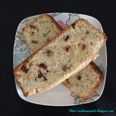 Banana Walnut and Dates Bread