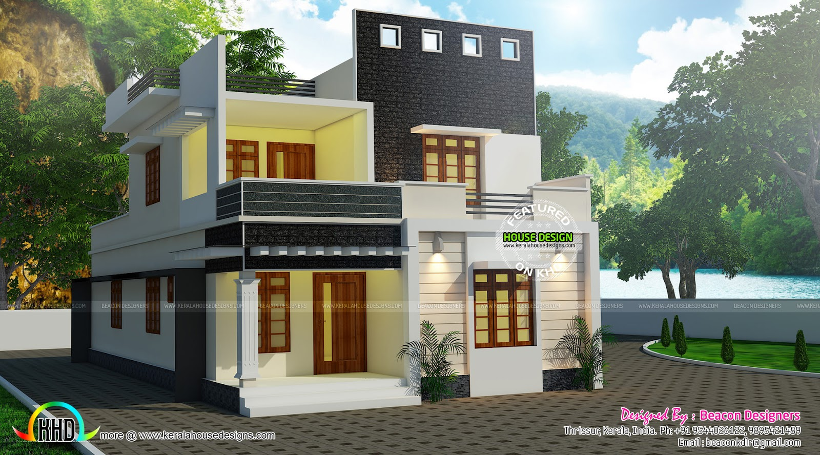Exceptional Cute Contemporary Home Design Part - 12: Cute And Small Double Storied Home Plan