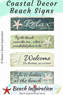 Beach Signs and Sayings Wood Plaques