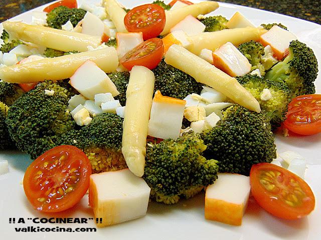 Ensalada de brócoli al vapor