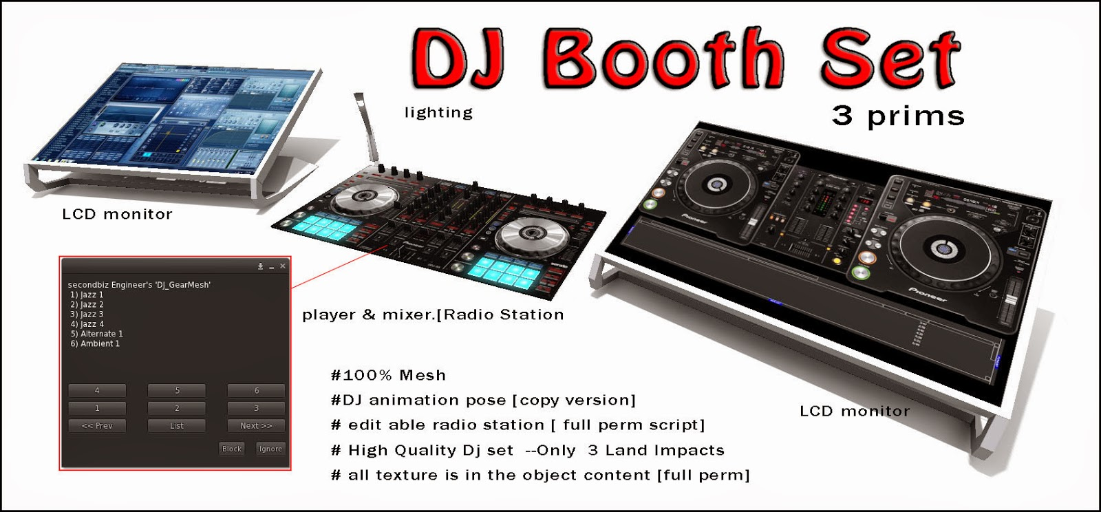 New Item For This Month: DJ Booth Set