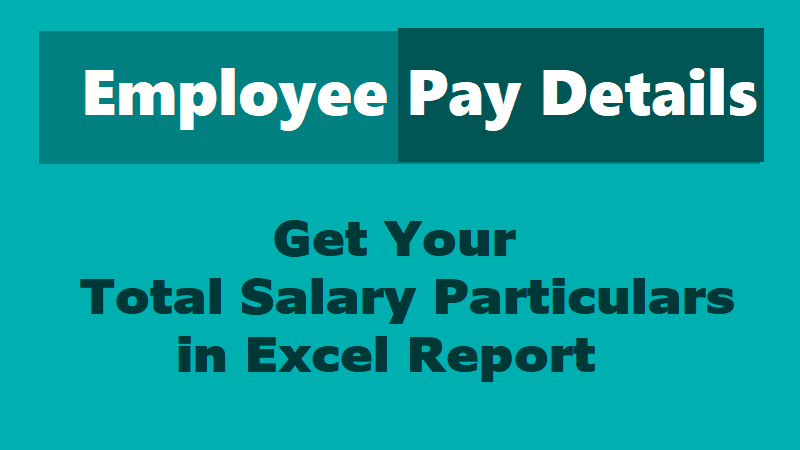 Know Your Online Salary Particulars, Employees Pay Details, Pay