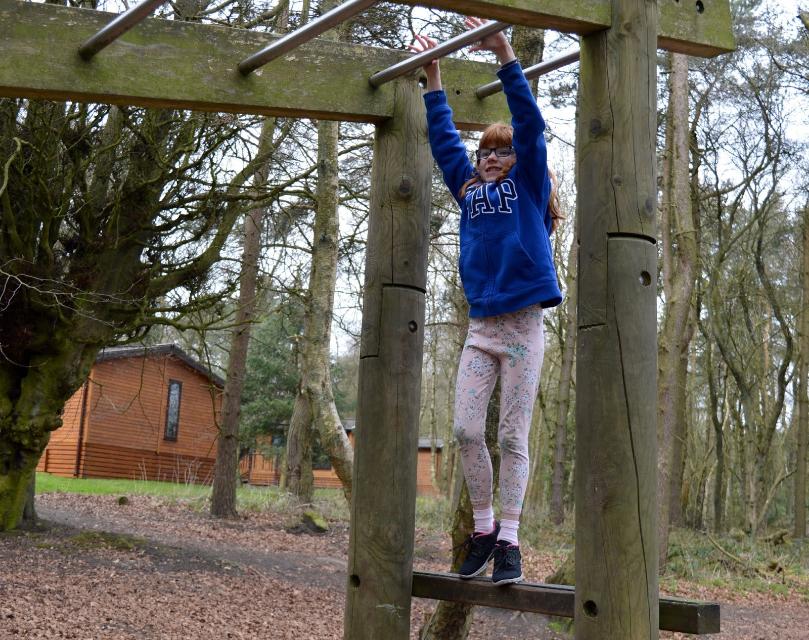 A Review of Darwin Forest & The Peak District with Tweens  - monkey bars
