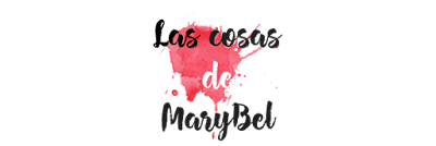Logo rechazado Las cosas de Marybel con salpicadura roja