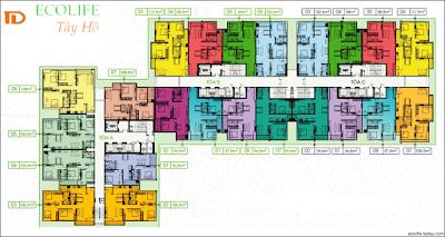 Mặt bằng thiết kế căn hộ chung cư Viện Kiểm Soát