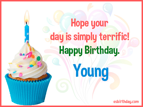 Young Happy birthday