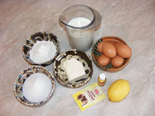 retete ingrediente prajitura, preparate din unt lapte oua faina zahar lamaie si vanilie,