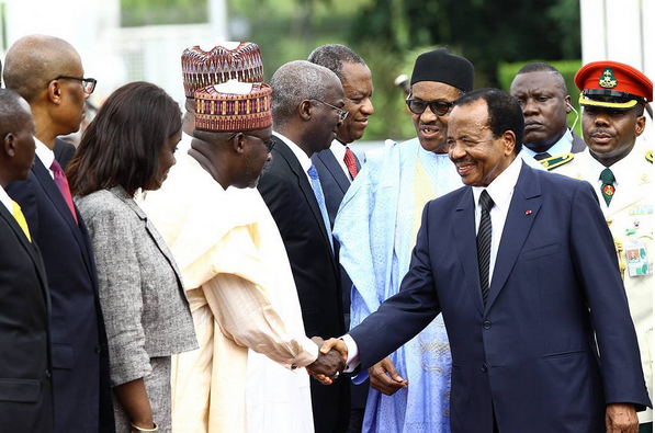 President Buhari receives Cameroonian president paul biya and his wife in Abuja