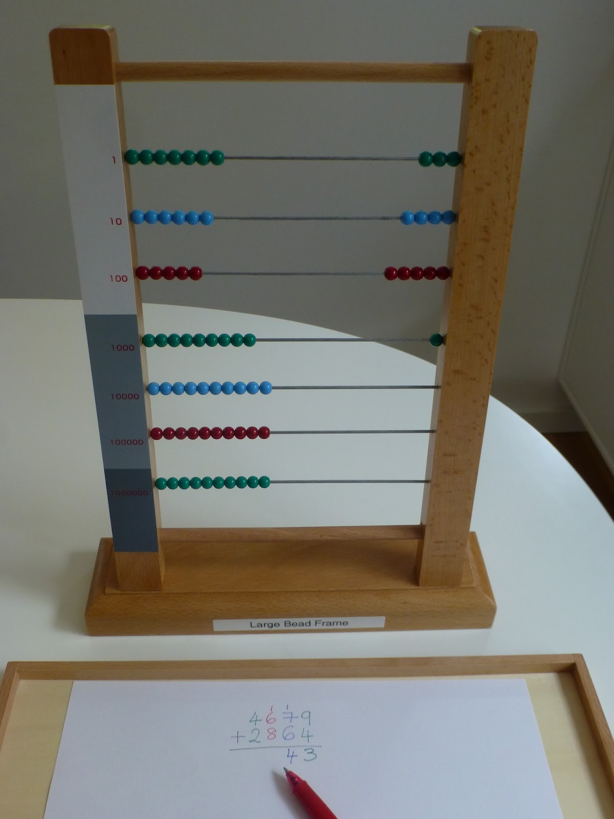 Family Fecs Montessori Activity Small Bead Frame