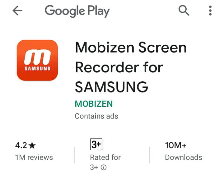 mobizen screenrecorder for samsung