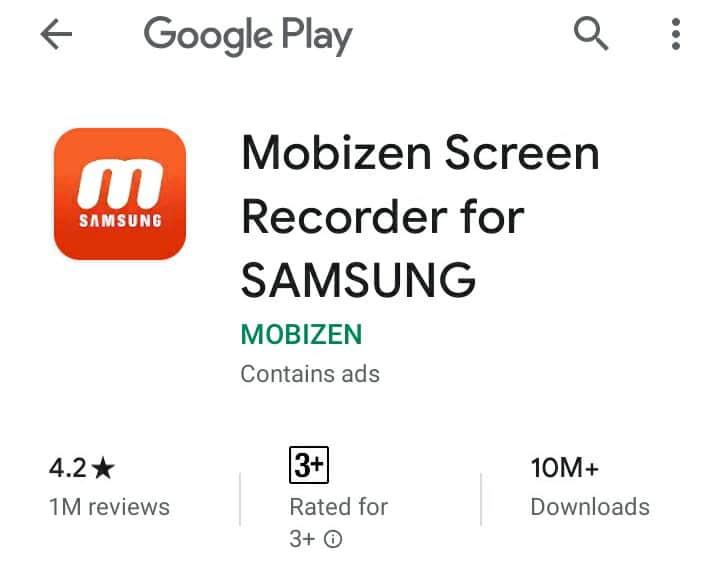 mobizen screenrecorder for samsung