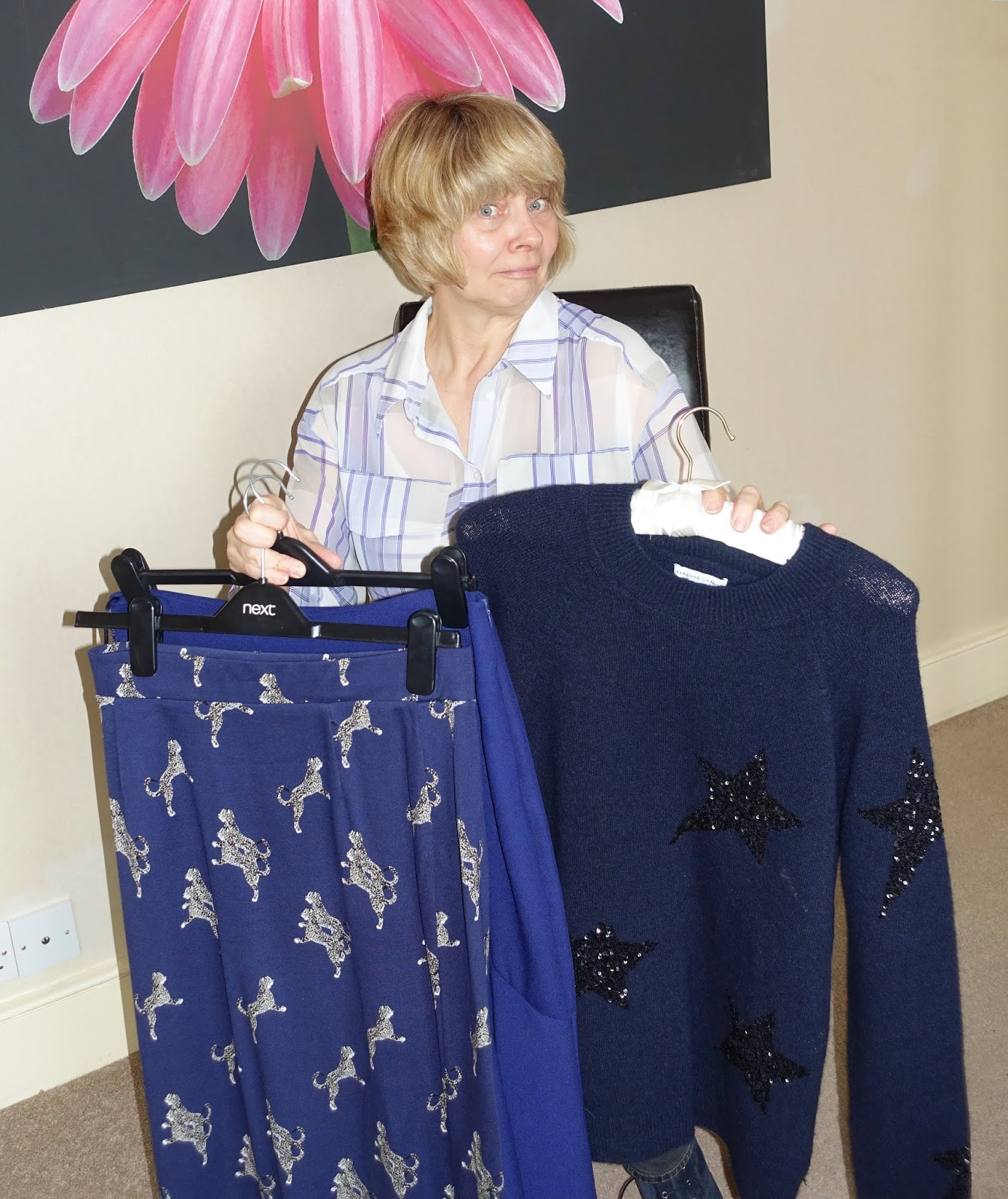 Over 45s style blog Is This Mutton? on a dilemma with the colour blue