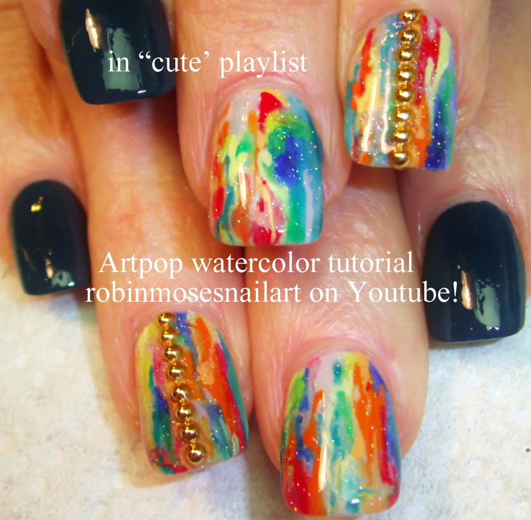 Nail Art By Robin Moses No Water Marble Nails Marble Nails