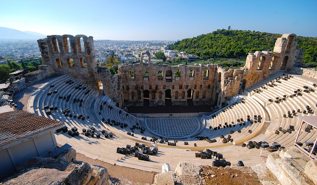 The Odeon of Herodes Atticus, Acropolis,Athens