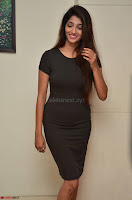 Priya Vadlamani super cute in tight brown dress at Stone Media Films production No 1 movie announcement 016.jpg
