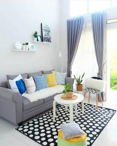 Ruangan rumah minimalis type 30 dengan warna elegan dan mewah