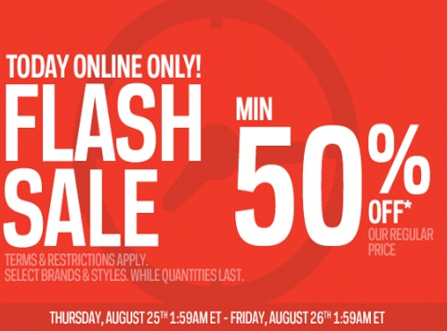 Sportchek Flash Sale 50% Off + Free Shipping