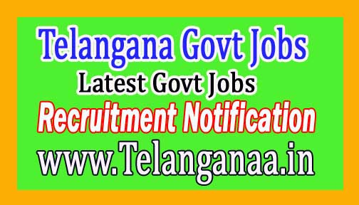 Latest Telangana Government Jobs 2017 Notification Recruitment