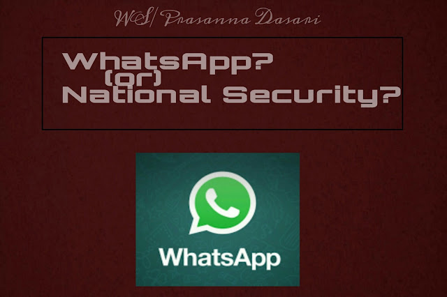WhatsApp or National Security?