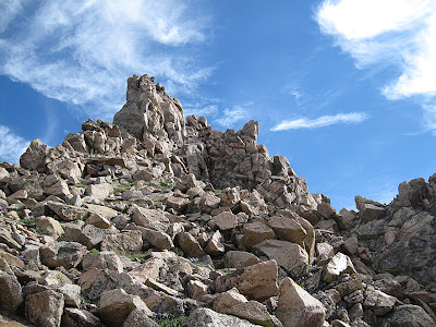 The crux of the Sawtooth Ridge in Colorado