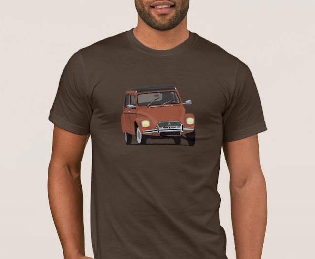 Vintage sixties automobile - Citroen Dyane - T shirt