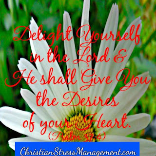 Delight yourself in the Lord and He shall give you the desires of your heart. (Proverbs 37:4)