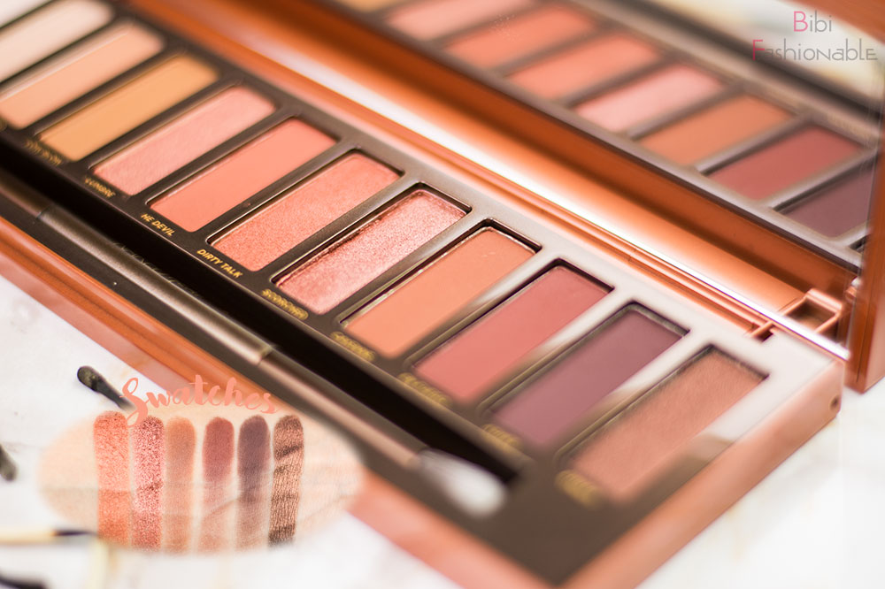 Urban Decay Naked Heat Swatches dunkle Nuancen