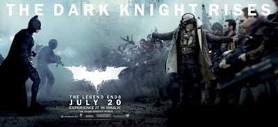 The Dark Knight Rises Theatrical Movie Banner Set 1 - Christian Bale as Batman & Tom Hardy as Bane