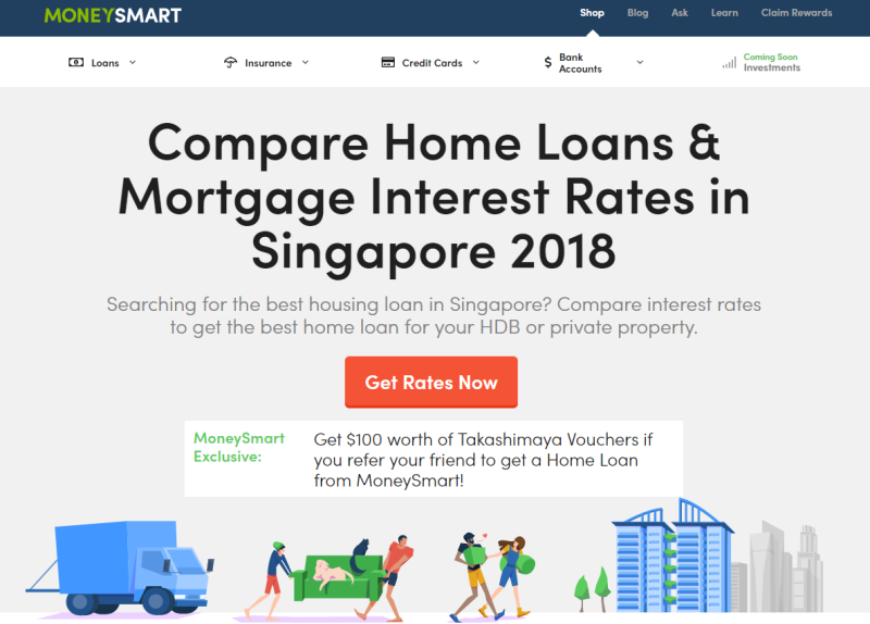 moneysmart singapore home loans compare mortgage interest rates