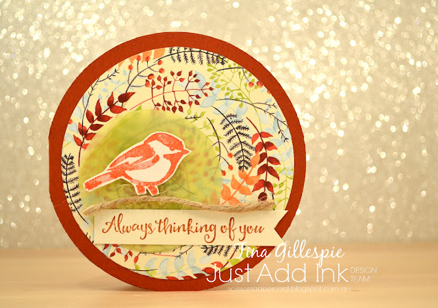 scissorspapercard, Stampin' Up!, Just Add Ink, Painted Autumn DSP, Petal Palette, Beautiful Day