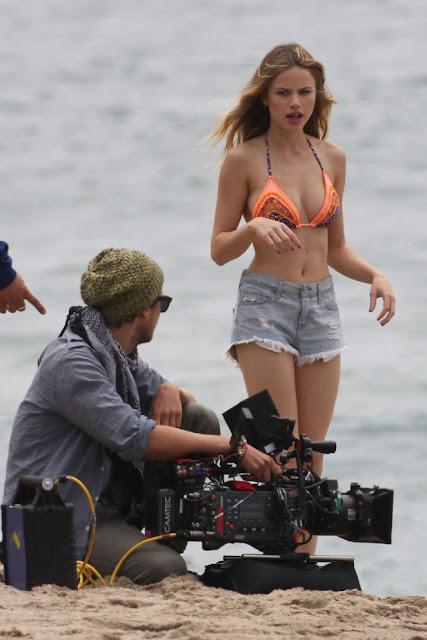 Halston Sage in Bikini Top on 'You Get Me' in San Pedro