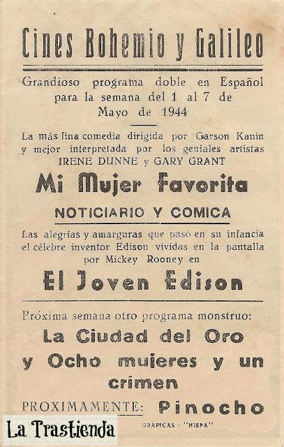 Programa de Cine - El Joven Edison - Mickey Rooney - Fay Bainter