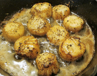 cook pan seared scallops