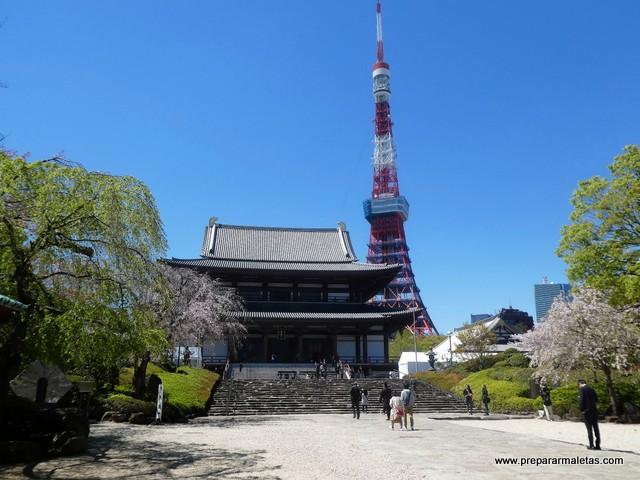 Zoo-ji templo para ver en Tokio