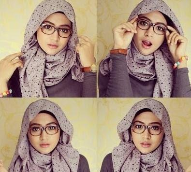 style hijab fashion kaca mata