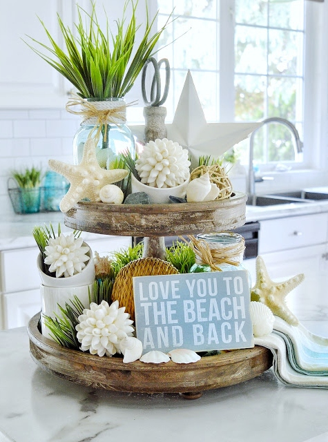 Tiered Tray Coastal Beach Decor