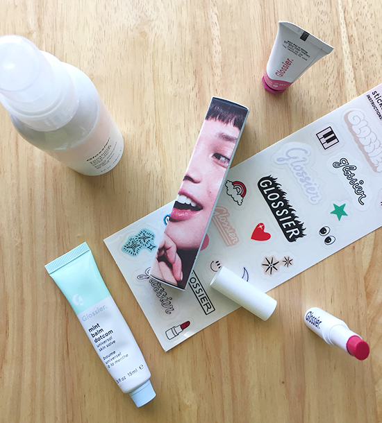 glossier, glossier soothing face mist, glossier cloud paint, glossier generation g lipstick, glossier mint balm dotcom,
