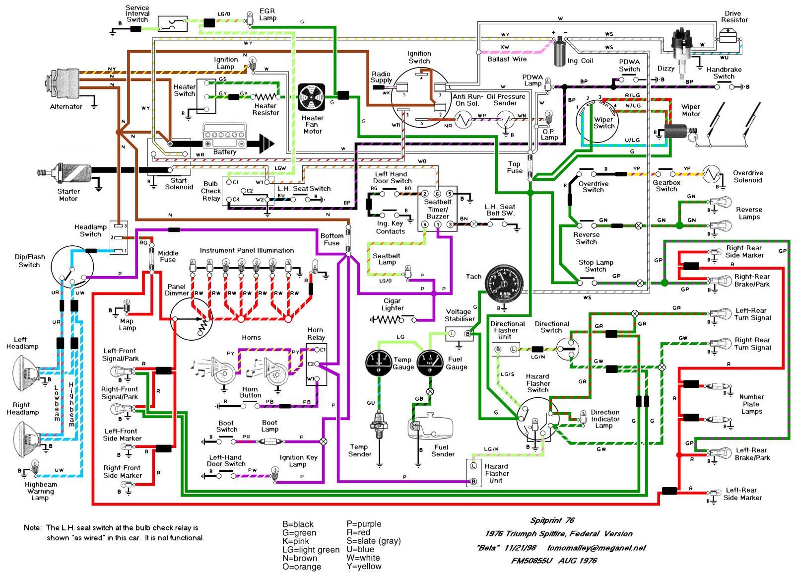 1976 triumph spitfire wiring diagram