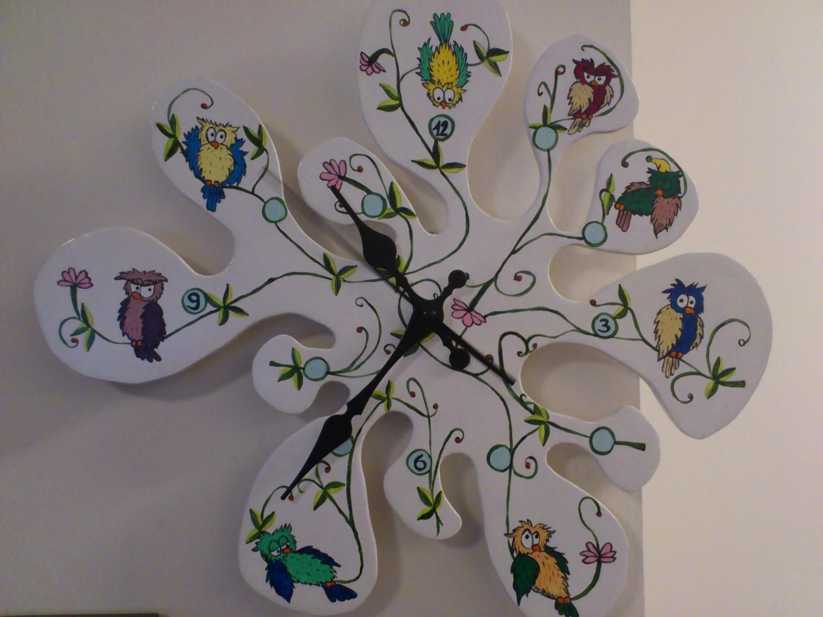 Officina ceramica by bv creazioni orologio gufoso da muro for Mattonelle da muro