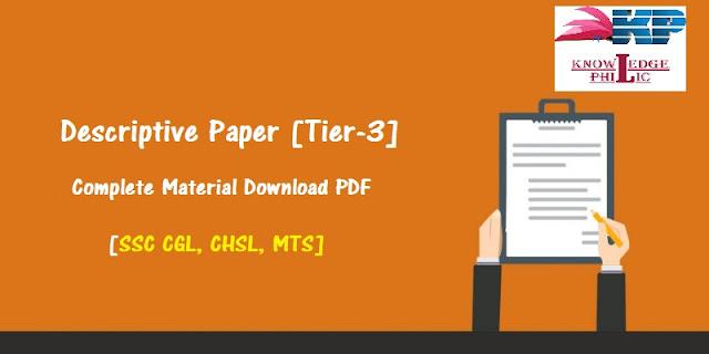 Descriptive Paper [Tier-3] Complete Material Download PDF