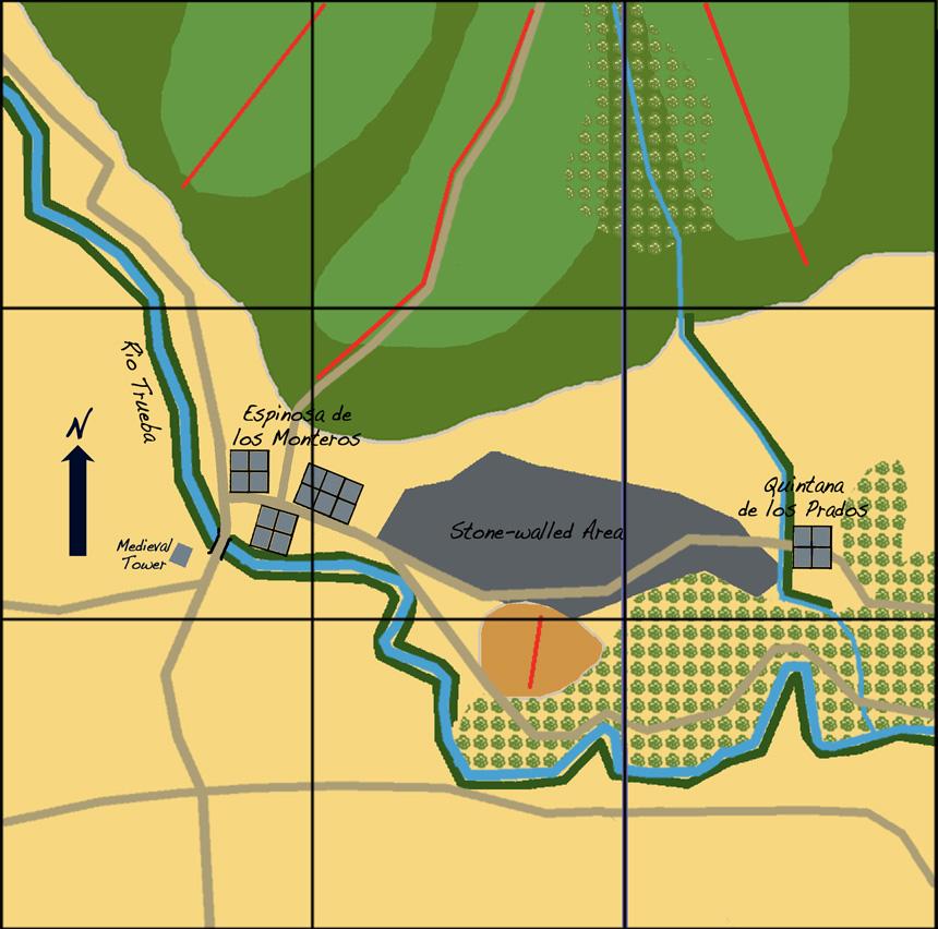 Tiny Wars Pla Indoors: The Battle of Espinosa de los ... Spain Maps Of Area Quintana on colindres spain, celorio spain, quintanilla spain, chueca spain, piedrahita spain, almodovar spain, samaniego spain,