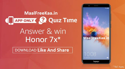 Win Free Honor 7X smartphone