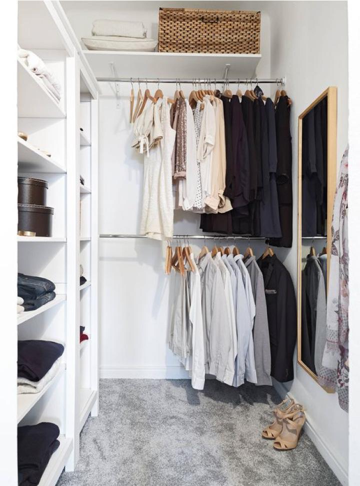 Cabina armadio la soluzione perfetta per gestire abiti e for Cabina armadio low cost