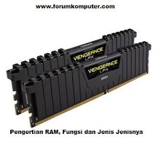 Pengertian RAM, Fungsi, dan Jenis Jenisnya