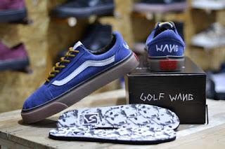 Sepatu Vans Golf Wang Navy Suede Waffle ICC