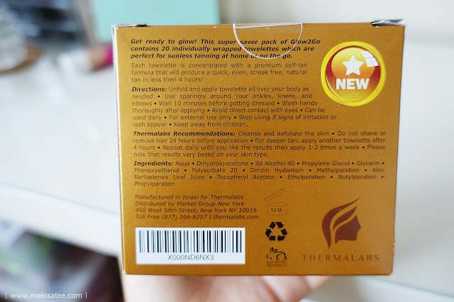 thermalabs, thermalabs glow to go, tanning, tanning wipes, thermalabs glow to go review