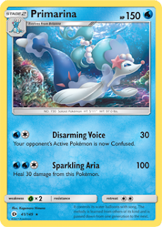 Primarina Sun and Moon Pokemon Card