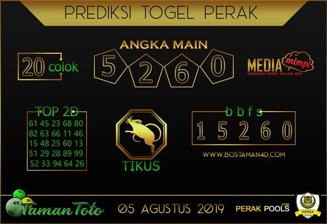 Prediksi Togel PERAK TAMAN TOTO 05 AGUSTUS 2019
