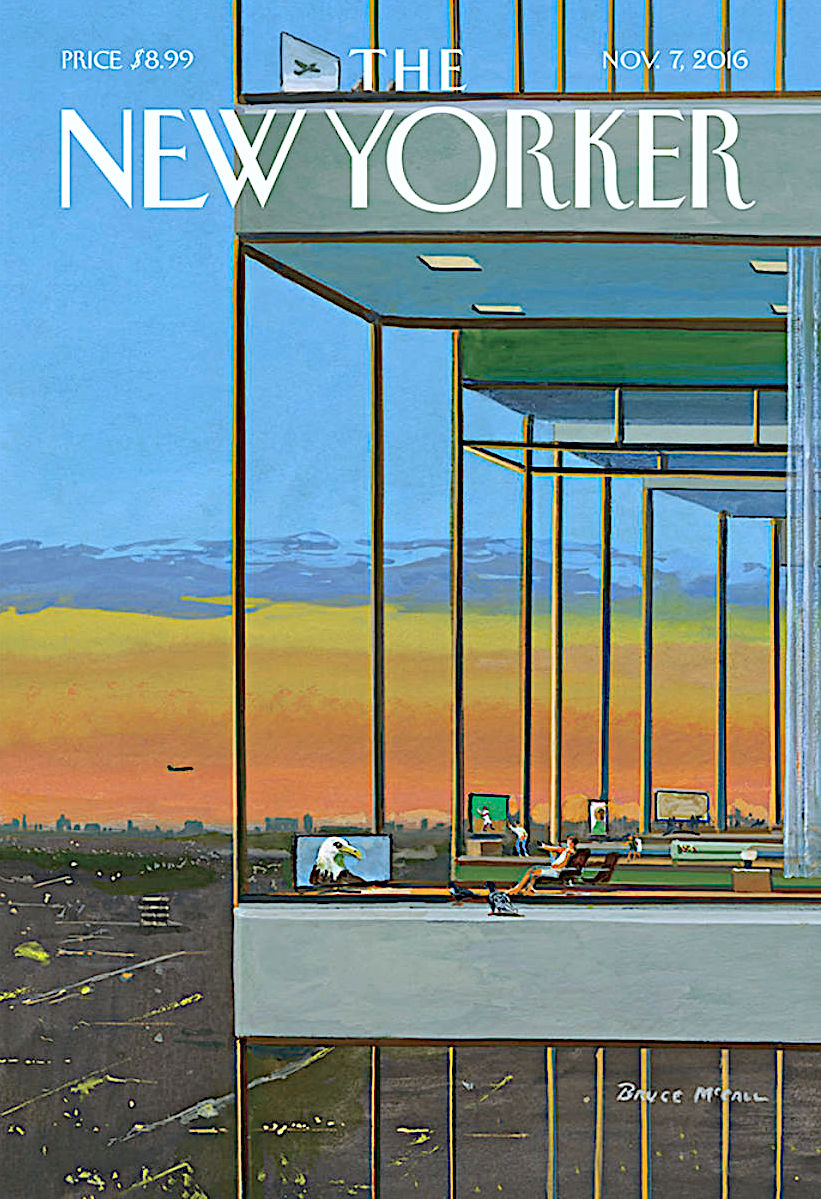 a Bruce McCall illustration for The New Yorker